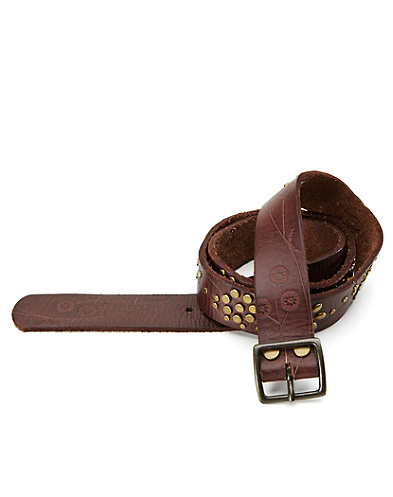 Alegria Embossed Floral Studded Belt*