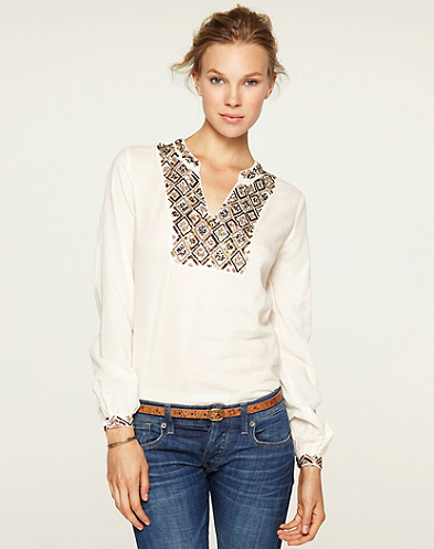 Ali Embellished Popover Top*