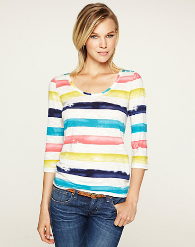 Allover Striped T-Shirt