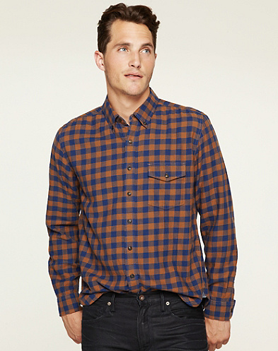 Ambassador Gingham Check One-Pocket Shirt*