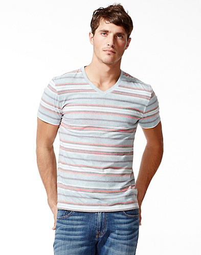 Baja Striped V-NecK T-Shirt