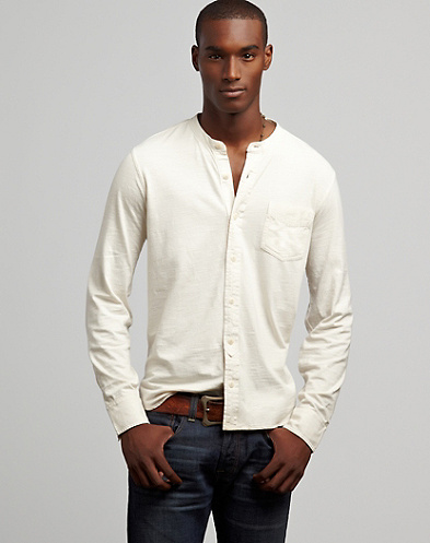 Banded Collar Shirt*