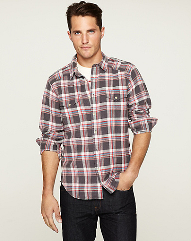 Barren Plaid Western Shirt*