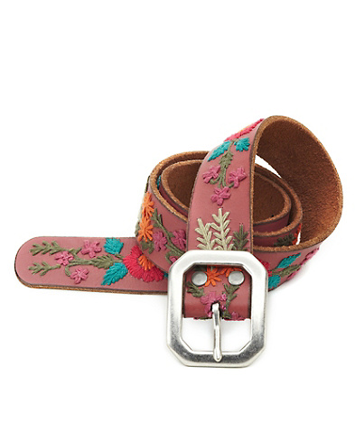 Belinda Floral Embroidered Belt*