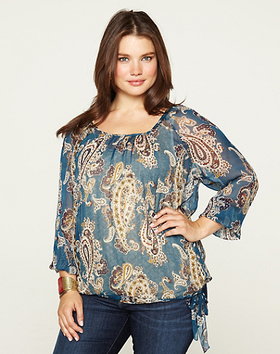 Bianca Paisley Chiffon Top