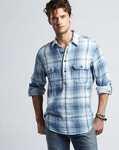 Big Wave Plaid Workwear Shirt*