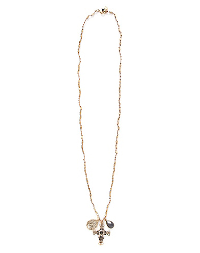 Black Cross Charm Necklace*