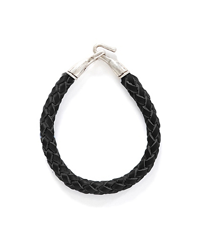 Black Leather Braided Hook