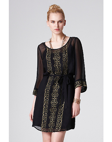 Black Magic Shift Dress