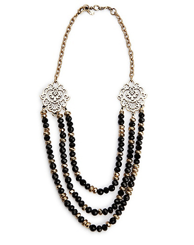 Black Statement Collar Necklace*