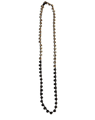 Black and Gold Colorblocked Necklace