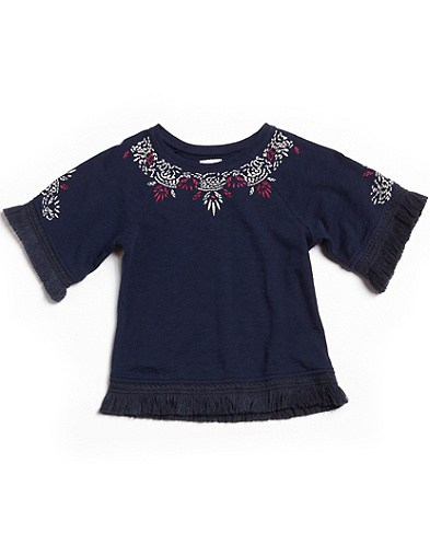 Blair Embroidered Poncho Top