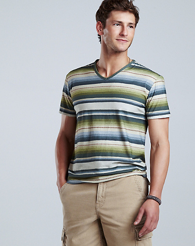 Blanket Striped V-Neck T-Shirt