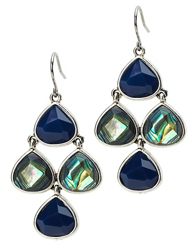 Blue Multi Chandelier Earrings