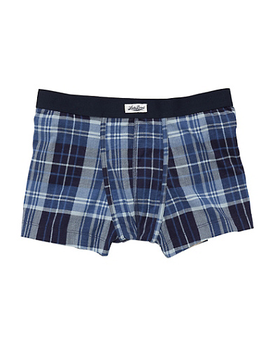 Blue Plaid Boxer Brief