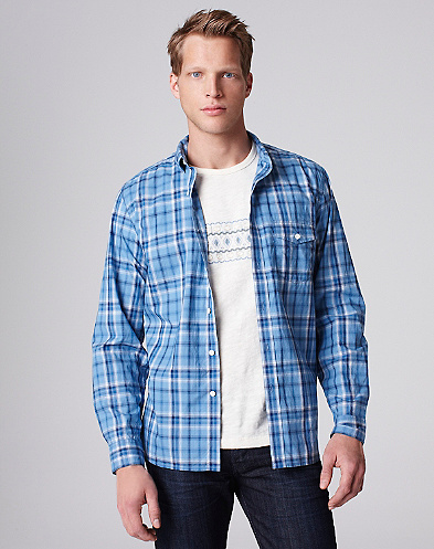 Blue Rock Plaid One-Pocket Shirt*