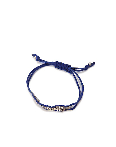 Blue Silver Slide Knot Bracelet*