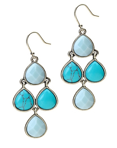 Blue Stone Earring