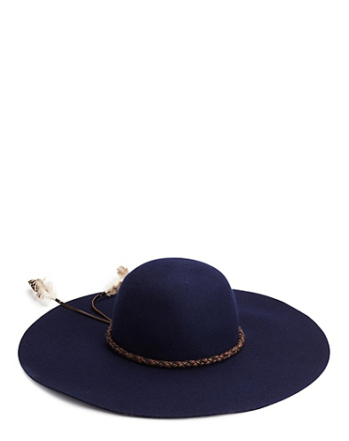 Bohemia Floppy Hat With Braided Trim