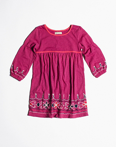 Border Embroidered Dress