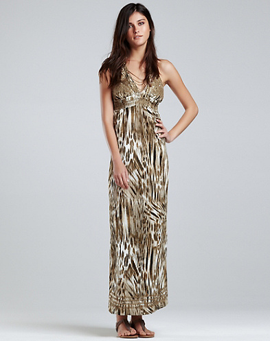 Brigette Halter Maxi Dress*