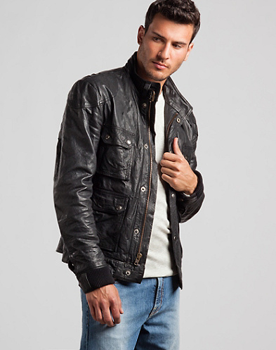 Caf&eacute; Racer Leather Jacket*