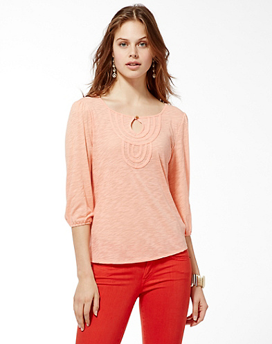 Carly Medallion Bib Top*