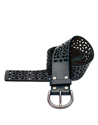 Carmen Floral Stencil Cutout Belt