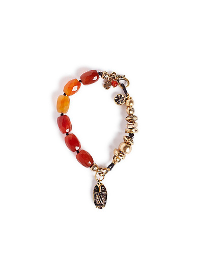 Carnelian and Gold Bracelet