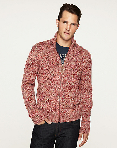 Cashmere Marl Zip Cardigan