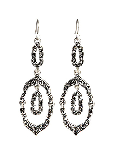 Chandelier Pave Double Drop Earrings*