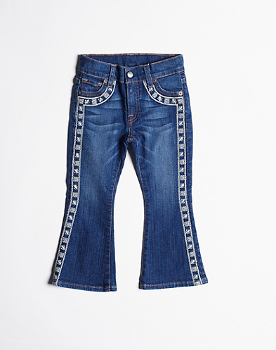 Charlie Flare Embroidered Jeans