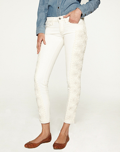 Charlie Skinny Embroidered*