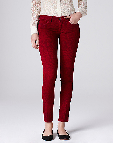 Charlie Skinny Legend Feather Print Jeans