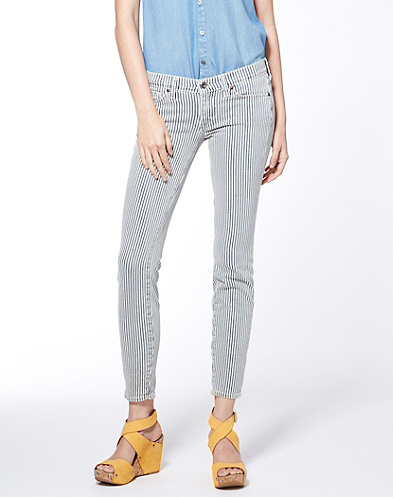 Charlie Skinny Railroad Stripe
