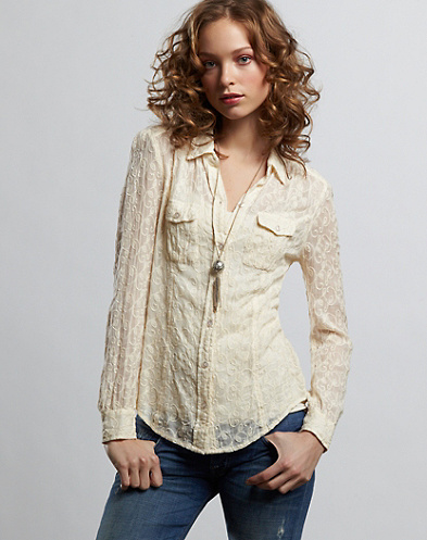 Charlotte Embroidered Lace Blouse*