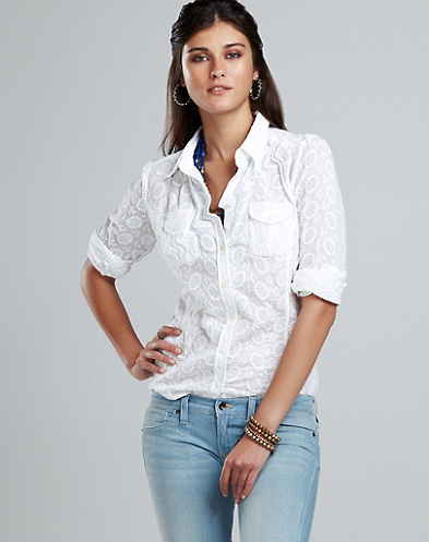 Charlotte Eyelet Blouse*