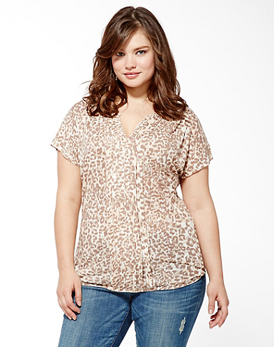 Cheetah Iris Top