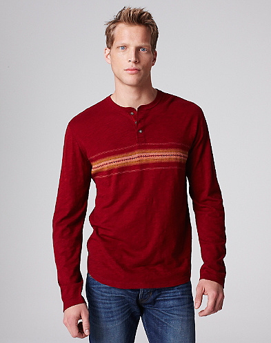 Chest Stripe Henley*