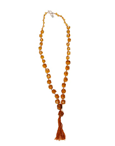 Citrine Chunky Strand Necklace