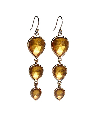 Citrine Triple Drop Earrings