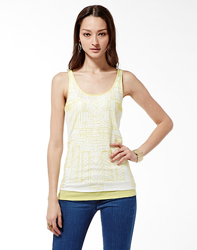 Citrus Beaded Top