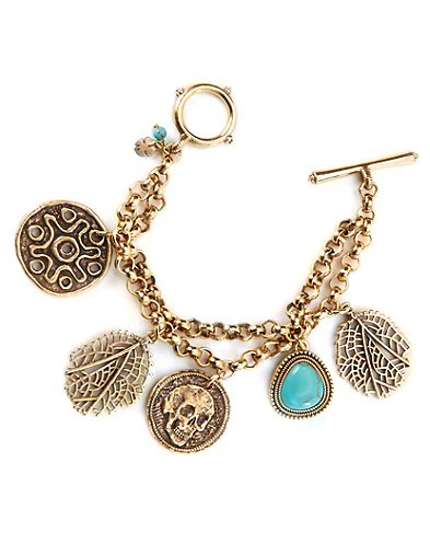 Coin Charm Bracelet