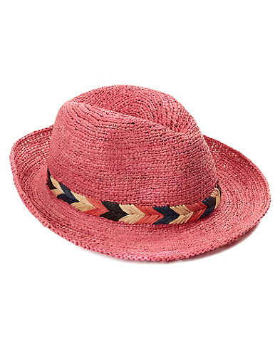 Copal Straw Fedora*