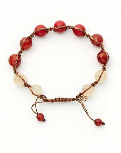Coral Slide Knot Bracelet