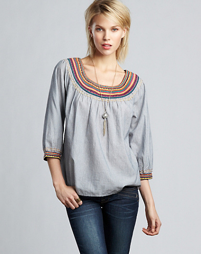 Corrine Embroidered Top*