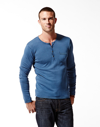 Cotton Sweater Henley