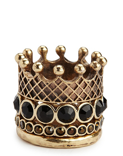 Crown Stacked Rings