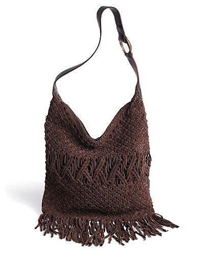 Daisy Macrame Fringe Hobo