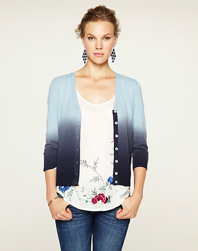 Dallas Dip Dye Cashmere Cardigan*